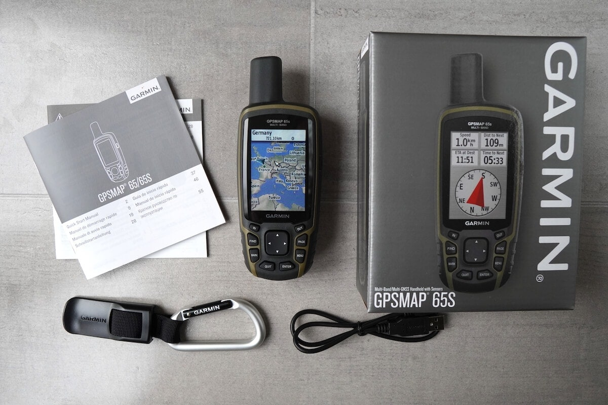 Garmin GPSmap 65s Unboxing Lieferumfang